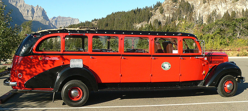 File:Glacier National Park Red Jammer Bus.jpg