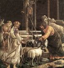 Moses waters the sheep - Scenes from the Life of Moses Botticelli.jpg